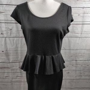 Olive and Oak Black Peplum Dress